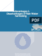 Advantages and Disadvantages Water Harvsting