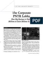 The Corporate PNTR Lobby
