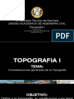 Consideraciones Generales de La Topografia