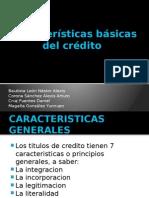 Características Básicas Del Crédito