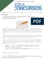Escola Concursos_ (Questões 01) Direito Constitucional – Controle de Constitucionalidade