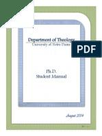 2014 Phd Manual
