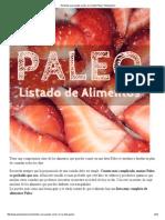 Alimentos Paleo, listado de alimentos