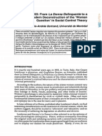1893-1993. Fom La Donna Delinquente to a Postmodern Deconstruction of the ´Woman Question´ in Social Control Theory