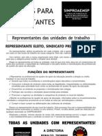 ATES e AGES ELEIÇÃO REPRESENTANTES 2010