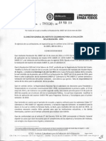 Resolucion 000130 de 2014- Modificación de Fechas Examenes