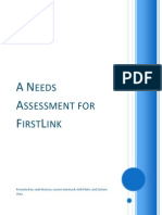needs assesment - firstlink
