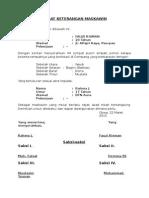 Surat Keterangan Maskawin