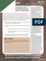 Foothills Christian Church - God First Week #3 Study Guide
