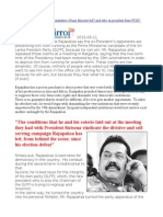 Why One Should Worry About Rajapaksa's Prime Minister Bid and Why Ex-president Fears FCID