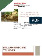 Fallamiento en Taludes