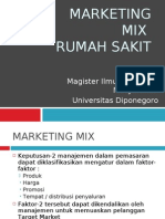 Marketing Mix Rumah Sakit - Septo Pawelas Arso