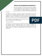 Valor Probatorio de Los Documentos Electrónicos