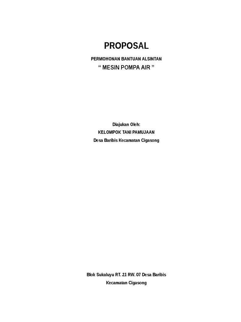 Proposal Pompa Air