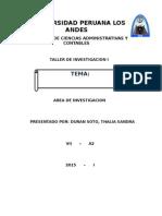 CARATULA de Taller de Investigacion