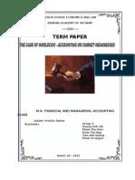 Term Paper Corporate Finance - Worldcom Case - Group Leader Doan Thu Nga