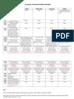 2nd accurate prek weekly schedule