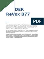 Máquina de cinta Studer revox b77