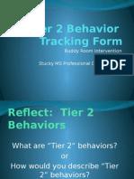 tier 2 behavior tracking form presentation