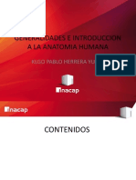 Generalidades e Introduccion a La Anatomia Humana Inacap