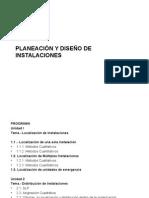 Planeasion y diseño de instalaciones