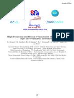 High Frequnecy multibeam echosounder calssification for rapid environmental assesment