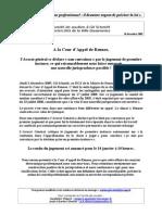 Comit- De Soutien - Gil Communiqu De D-cembre 2009 Suite Proc-s en Appel CA de Rennes