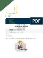 Act. 15 - Final Exam Ingles III