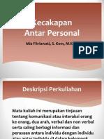 Slide tentang Kecakapan Antar Personal Bagian 1