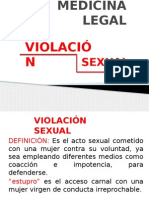 Medicina Legal Viola c i on Sexual