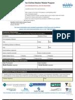 Washwise Rebate Form
