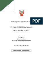 Pleno Jurisdiccional Distrital Penal de lima