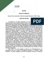 2. Díaz, B. 2010. Pensar La Didáctica. Prólogo