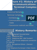 01. History of Telecommunications. Terminal Complex