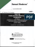 Test Habilidades Mentales Primarias