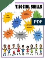 positive social skills poster