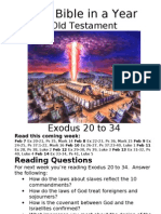 Bible in a Year 14 OT Exodus 20 to 34