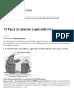 13 Tipos de Falacias Argumentativas