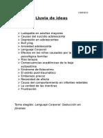 1 Lluvia de Ideas