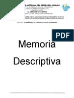 Memoria Descriptiva Vias Terrestres