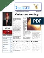 The Oleikan--March & April, 2010