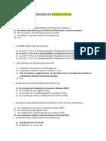 Cuestionario de Politica Fiscal