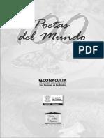 143086980 100 Poetas Del Mundo Antologia Encuentro Internacional de Poetas