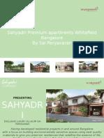 Sahyadri Premium Apartments Whitefield Bangalore