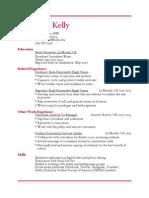 Elise Kelly's Resume