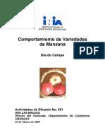 Comportamiento de Variedades de Manzana