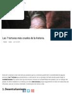Las 7 Torturas Más Crueles de La Historia _ Supercurioso