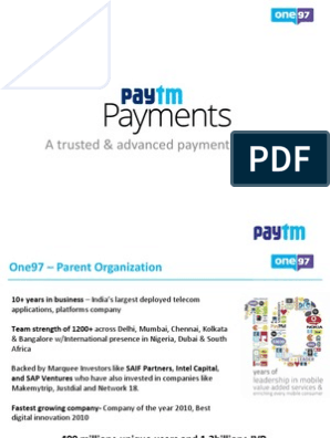 Paytm Payment Solutions_Feb15 | Financial Transaction