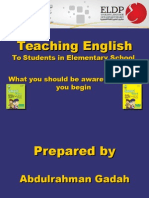 Teaching English to students in primary schools