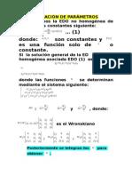 Variación de Parametros